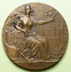 Photo numismatique  Monnaies M�dailles Concours de Tir M�daille bronze NANCY, XIII�me concours de tir, national et international de 1906, M�daille en bronze de 36 mm, poin�on corne, graveur C.MAREY, SUPERBE+