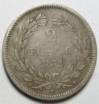 Photo numismatique  Monnaies Monnaies Françaises Louis Philippe 2 Francs LOUIS PHILIPPE Ier, 2 Francs 1832 W Lille, G.520 TB+