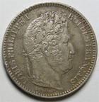 Photo numismatique  Monnaies Monnaies Fran�aises Louis Philippe 2 Francs LOUIS PHILIPPE Ier, 2 francs 1846 A Paris, G.520 corrosion et coups sur tranche sinon TTB