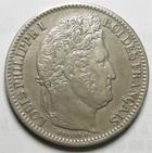 Photo numismatique  Monnaies Monnaies Françaises Louis Philippe 2 Francs LOUIS PHILIPPE Ier, 2 francs 1845 BB Strasbourg, G.520 portrait retouché sinon TTB+