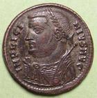 Photo numismatique  Monnaies Empire Romain LICINIUS I, LICINIO I,  Follis, folles,  LICINIUS I, Follis frappé à Nicomedie en 317.320, Buste consulaire, Iovi conservatori augg, 2.87 Grms, RIC.24 SUPERBE/TTB+