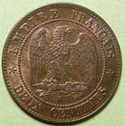 Photo numismatique  Monnaies Monnaies Françaises Second Empire 2 Centimes NAPOLEON III, 2 centimes tête laurée 1862 K Bordeaux, G.104 SUPERBE+