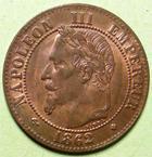 Photo numismatique  Monnaies Monnaies Françaises Second Empire 2 Centimes NAPOLEON III, 2 centimes tête laurée 1862 BB Strasbourg, petit BB, G.104 Presque SUPERBE