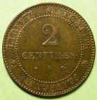 Photo numismatique  Monnaies Monnaies Françaises Troisième République 2 Centimes 2 centimes Cérès 1877 A, G.105 SUPERBE