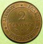 Photo numismatique  Monnaies Monnaies Françaises Troisième République 2 Centimes 2 centimes Cérès 1888 A, G.105 SUPERBE+