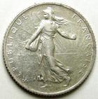 Photo numismatique  Monnaies Monnaies Françaises Troisième République 1 Franc 1 Franc semeuse de Roty 1909, G.467 TTB+
