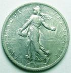 Photo numismatique  Monnaies Monnaies Françaises Troisième République 1 Franc 1 franc semeuse de Roty 1911, G.467 TTB+
