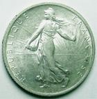 Photo numismatique  Monnaies Monnaies Françaises Troisième République 1 Franc 1 franc semeuse de Roty 1898, G.467 Presque SUPERBE