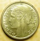 Photo numismatique  Monnaies Monnaies Françaises Etat Français 1 Franc 1 Franc Morlon 1941, bronze-aluminium, G.470a Petites tâches sinon SUPERBE