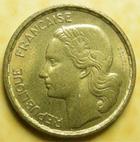 Photo numismatique  Monnaies Monnaies Françaises 4ème république 10 Francs 10 francs Guiraud 1957, G.812 TTB+