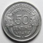 Photo numismatique  Monnaies Monnaies Françaises 4ème république 50 Centimes 50 centimes Morlon 1947 B, Aluminium, G.426b SUPERBE