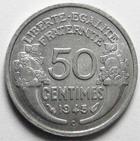 Photo numismatique  Monnaies Monnaies Françaises Gouvernement Provisoire 50 Centimes 50 centimes Morlon 1945 C, Aluminium, G.426a Presque SUPERBE