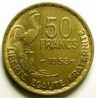 Photo numismatique  Monnaies Monnaies Françaises 4ème république 50 Francs 50 francs Guiraud 1953, G.880 TTB+