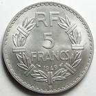 Photo numismatique  Monnaies Monnaies Françaises 4ème république 5 Francs 5 francs Lavrillier 1949 B, Aluminium, G.766a SUPERBE