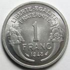 Photo numismatique  Monnaies Monnaies Françaises 4ème république 1 Franc 1 Franc Morlon 1948, Aluminium, G.473b SUPERBE