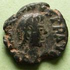 Photo numismatique  Monnaies Monnaies Byzantines 6ème siècle 5 Nummi JUSTINUS I, JUSTIN Ier, 5 nummi Antioche, 518.527, 1.87 grammes, Sear 111 TB+