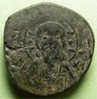 Photo numismatique  Monnaies Monnaies Byzantines 10ème / 11ème siècle Follis, folles,  NICEPHORUS III, NICEPHORE III,  Follis anonyme, 1075.1080, 6.45 grammes, Sear.1889 Variante, TB+