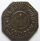Photo numismatique  Monnaies Allemagne après 1871 Allemagne, Deutschland, Deggendorf 1 pfennig, notgeld DEGGENDORF, 1 pfennig Non daté, L et E VOLLMUTH, Hasselmann 245.1 TTB (vernis, lackiert)