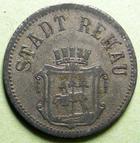 Photo numismatique  Monnaies Allemagne après 1871 Allemagne, Deutschland, Rehau 50 pfennig notgeld Allemagne, REHAU, 50 pfennig 1917, Funck.442.2 TTB+ (vernis, lackiert)