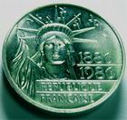 Photo numismatique  Monnaies Monnaies Françaises Cinquième république Piefort du 100 francs 100 Francs Liberté, 1986, Piefort en argent, G.901 Fleur de coins