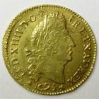 Photo numismatique  Monnaies Monnaies royales en or Louis XIV Médaille Louis d'or aux 4 L LOUIS XIV, Louis d'or aux 4 L, 1694 N Montpellier, belle réformation, 6.73 grammes, G.252 TTB+