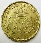 Photo numismatique  Monnaies Monnaies royales en or Louis XV Louis d'or au bandeau LOUIS XV, Louis d'or au bandeau, 1753 A Paris, 8.15 grammes, G.341 Presque SUPERBE, beau brillant, belle monnaie!