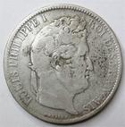 Photo numismatique  Monnaies Monnaies Françaises Louis Philippe 5 Francs LOUIS PHILIPPE, 5 francs 1831 K Bordeaux, tranche en creux!, G.677 B à TB Rare!