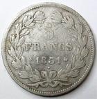 Photo numismatique  Monnaies Monnaies Fran�aises Louis Philippe 5 Francs LOUIS PHILIPPE, 5 francs 1831 K Bordeaux, tranche en creux!, G.677 B � TB Rare!