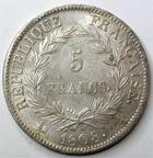 Photo numismatique  Monnaies Monnaies Françaises 1er Empire 5 Francs NAPOLEON Ier, 5 francs 1808 A, G.583 rayures au niveau du 5 sinon presque SUPERBE