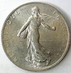 Photo numismatique  Monnaies Monnaies Françaises Troisième République 2 Francs 2 Francs Semeuse de Roty 1914 C, G.532 coups sur listel à 11HOO au revers, sinon SUPERBE