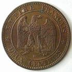 Photo numismatique  Monnaies Monnaies Françaises Second Empire 2 Centimes NAPOLEON III, 2 centimes lauré 1861 BB Strasbourg, G.104 Presque SUPERBE