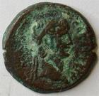 Photo numismatique  Monnaies Colonies Romaines Claude Ier 41.54 ap.Jc Obole, AE 20 CLAUDIUS I, CLAUDE Ier, obole, AE 20, Alexandrie en 49.50, Main tenant des épis de blé, D.146 TB+