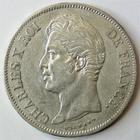 Photo numismatique  Monnaies Monnaies Françaises Charles X 5 Francs CHARLES X, 5 francs 1828 D Lyon, G.644 TTB
