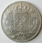 Photo numismatique  Monnaies Monnaies Fran�aises Charles X 5 Francs CHARLES X, 5 francs 1828 D Lyon, G.644 TTB