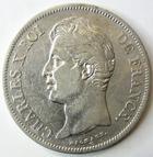 Photo numismatique  Monnaies Monnaies Fran�aises Charles X 5 Francs CHARLES X, 5 francs 1828 W Lille, G.644 TB � TTB