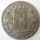 Photo numismatique  Monnaies Monnaies Fran�aises Charles X 5 Francs CHARLES X, 5 francs 1829 T Nantes, G.644 TB