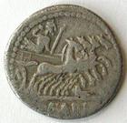 Photo numismatique  Monnaies République Romaine Fabia 124 avant Jc Denier, denar, denario, denarius Q.FABIUS LABEO, Denier 124 avant Jc, quadrige à droite, RSC.Fabia 1 TB+
