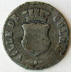 Photo numismatique  Monnaies Monnaies/medailles d'Alsace Colmar Médaille en plomb COLMAR, Médaille en plomb 26.60 mm, inauguration de la statue de bruat, 21 Aout 1864, TB
