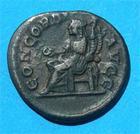 Photo numismatique  Monnaies Empire Romain 3ème siècle ORBIANNE Denier ORBIANNE (orbiana) femme d'Alexandre sévère, denier frappé à Rome en 225, Concordia, RIC 319 TTB+ patine noire