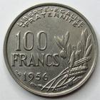 Photo numismatique  Monnaies Monnaies Françaises 4ème république 100 Francs 100 francs Cochet 1956 B, G.897 Presque SUPERBE