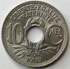 Photo numismatique  Monnaies Monnaies Françaises Troisième République 10 Centimes 10 centimes Lindauer 1917, G.286 SUPERBE
