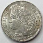 Photo numismatique  Monnaies Monnaies Fran�aises Deuxi�me R�publique 20 Cmes 20 centimes C�r�s 1850 A, G.303 petites traces sinon SUPERBE+