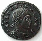Photo numismatique  Monnaies Empire Romain CRISPUS, CRISPE, CRISPO Follis, folles,  CRISPUS, Follis, Rome en 321, Caesarum Nostrorum, VOT X, 4.11 grammes, RIC.238 SUPERBE+