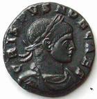 Photo numismatique  Monnaies Empire Romain CRISPUS, CRISPE, CRISPO Follis, folles,  CRISPUS, Follis, Arles (Arelate) en 318, Principia iuvventutis, 3.49 grammes, RIC.163 R4! Quasi SUPERBE
