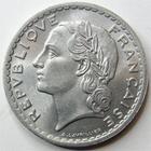 Photo numismatique  Monnaies Monnaies Françaises 4ème république 5 Francs 5 francs Lavrillier aluminium, 1948, G.266a SUPERBE+