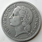 Photo numismatique  Monnaies Monnaies Françaises 4ème république 5 Francs 5 francs Lavrillier aluminium, 1952, G.766a TB+ Rare!!