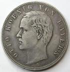 Photo numismatique  Monnaies Monnaies étrangères Allemagne Bayern (Bavière) 5 Mark Allemagne, Deutschland, Bayern, Bavière, 5 mark 1908, Otto koenig von Bauern, KM.512.1 TTB
