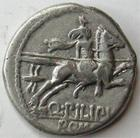 Photo numismatique  Monnaies R�publique Romaine Marcia 129 avant Jc Denier, denar, denario, denarius Q.MARCIUS PHILIPPUS, Denier 129 avant Jc, cavalier casqu� � droite, 3.82 grammes, RSC.Marcia 11, TTB