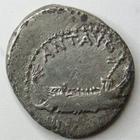 Photo numismatique  Monnaies République Romaine Marcus Antonius 32 avant Jc Denier, denar, denario, denarius MARCUS ANTONIUS, MARC ANTOINE, denier 32/31 avant Jc, aigle légionnaire LEG.XI, galère, RSC.39 TB/TTB