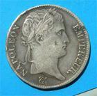 Photo numismatique  Monnaies Monnaies Françaises 1er Empire 5 Francs NAPOLEON Ier 5 Francs 1814 Q Perpignan, buste lauré, Gadoury 584 TTB